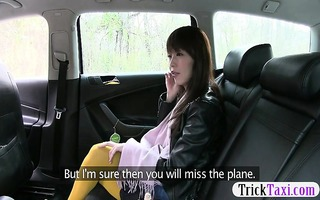 charming oriental gal tricked by the lewd cab