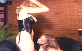 hawt shemale licking a soaked twat lady-boy porn