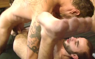 bushy homosexual guys acquire to work - factory