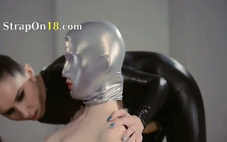 luxury dong lezzies in mask playing