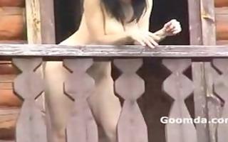 alena flashing susdal balcony show 0