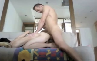 asian twink kris creampied by mature bf