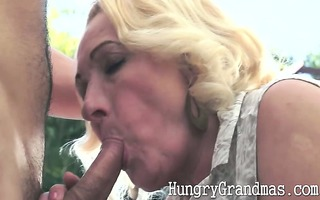 obese granny fucked by youthful jock