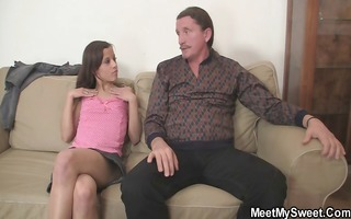 lustful gf jumps on her bfs daddy cock