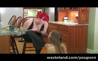 sadomasochism femdom kitchen villein duty
