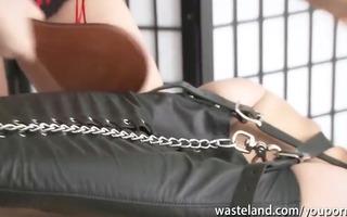 blond femdom-goddess uses her ginger male sex