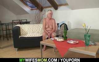 slutty granny lures her son-in-law