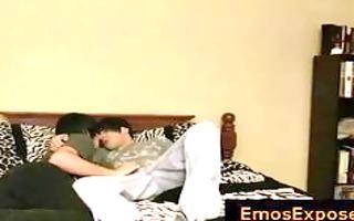 cute juvenile emos having gay sex on bed part11