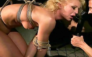 golden-haired getting bondaged and punished