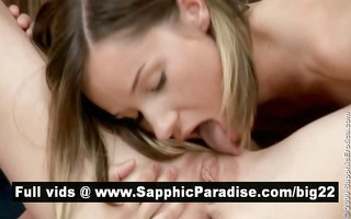 nasty brunette hair and blond lesbians licking