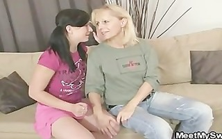 gf rides her bfs daddy jock after lezzie with mama