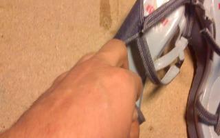 shoe strap sandal fucking shoe muff