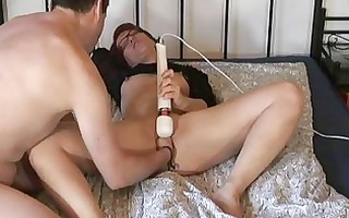 fisting my wifes slit whilst she is masturbates