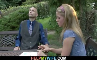 hung stranger does concupiscent youthful wife
