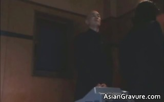 wicked oriental lady gets her unshaved bawdy