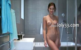 smart sweetheart teasing during shower