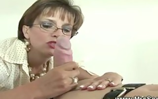 british aged mistress is fond of gags