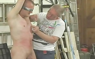 hawt homo hunk receives fastened blindfolded and