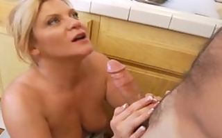 hardcore housewife rides dick in kitchen