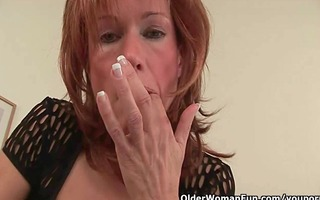 redheaded grannies in craving fuck a sex-toy