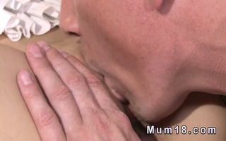 golden-haired older sucks and rides dick in sofa