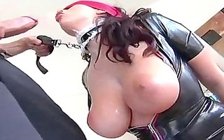 latex bondage queen is into perverted sex