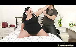 supple fatty acquires drilled with a lengthy cock