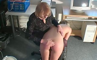 masturbating blond acquires spanked by mom