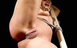 sexy golden-haired being bondaged and punished