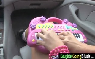 youthful daughter with precious butt screwed by a