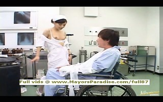 rio smart oriental nurse enjoys doing cook jerking