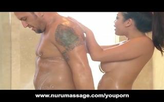 asian nuru massage cutie with massive boobs