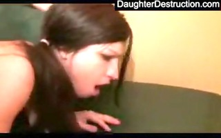 daughter throat and bawdy cleft drilled hard