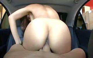 oriental rides dick in car