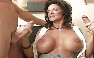 breasty brunette hair d like to fuck banged by