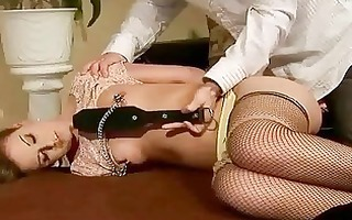 hawt cutie acquires bondaged and screwed in the