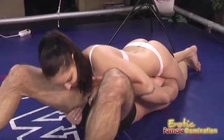 lana the brunette boxer dominates her man in the