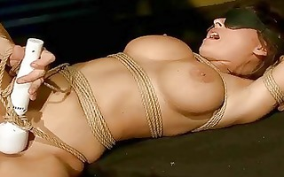 breasty hotty receives bondaged and screwed hard