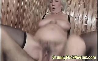 real lustful granny bonks younger dude
