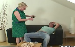 shlong hungry mamma jumps on her son on law