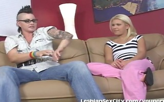 horny dyke teaches a hot girl lesbo sex