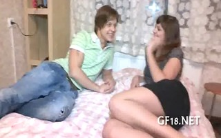 she is takes off his blue shirt