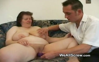 younger chap dildos old womans gazoo and bonks her
