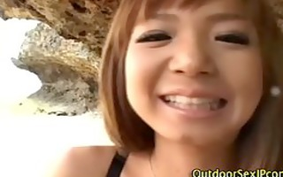 outdoor asians bitch fingered