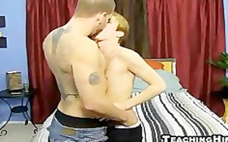 twink stud acquires his hard dick gobbled down on