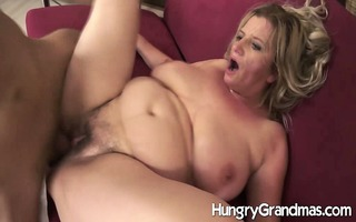 unshaved granny snatch for younger guy
