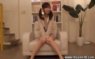 excited schoolgirl stripteases for fortunate lad