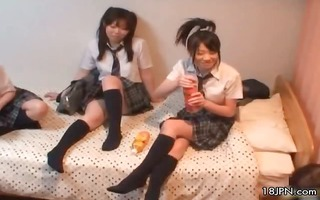 cute japanese girlfriends loving