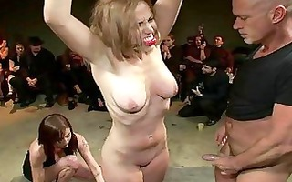 sexy siren acquires a excruciating group torment
