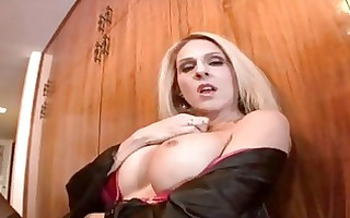 breathtaking blond cougar angela attison rubs out